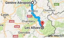 Geneva Airport to Les Allues Directions
