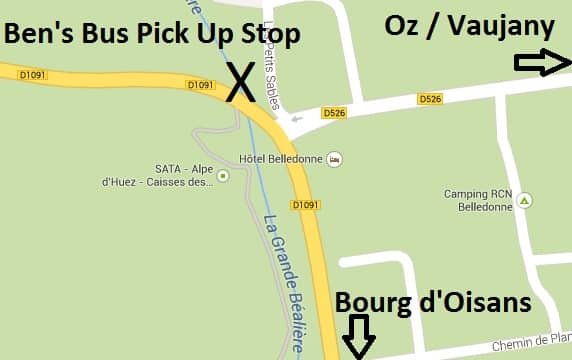 Map Rochetaille Bus Stop