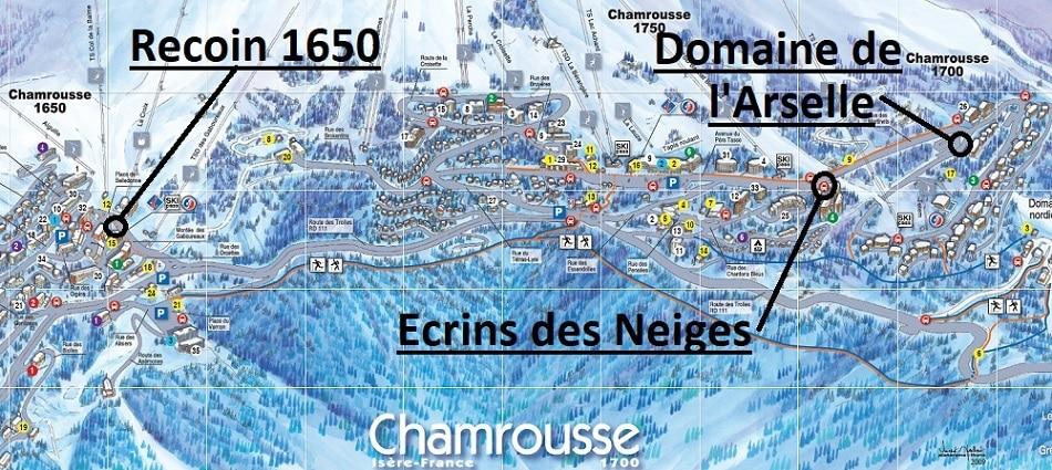 Map Chamrousse Ski Transfers