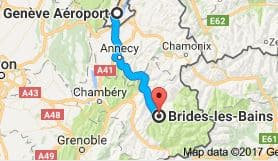 Geneva Airport to Brides Les Bains Directions