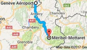Geneva to Mottaret Directions