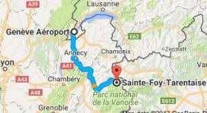Geneva Airport to Sainte Foy Directions