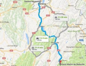 Geneva to Saint Martin de Bellevile Directions