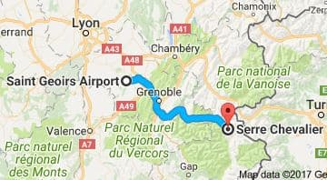 Grenoble Airport to Serre Chevalier Directions