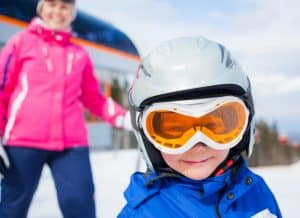 Children on Ski Transfers