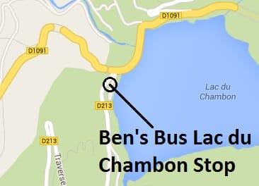 Lac du Chambon Map