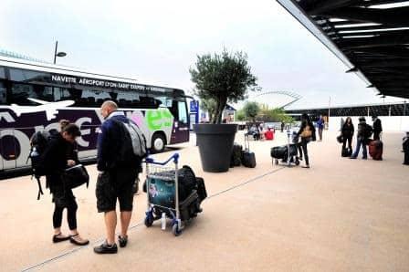 lyon airport destinations map