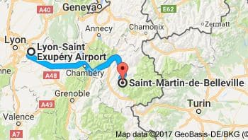 Lyon Airport to Saint Martin de Belleville Directions