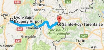Lyon Airport to Sainte Foy Directions