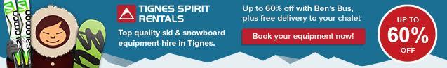 Tignes Spirit Ski Hire Web page banner 60%