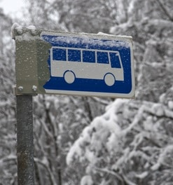 Les Allues Airport Ski Bus Stop