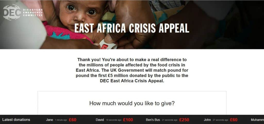 East Africa Crisis Donations