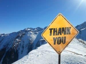 End of Ski Season Transfers Thank You
