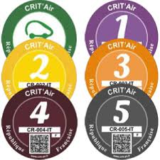 Crit Air Pollution Stickers