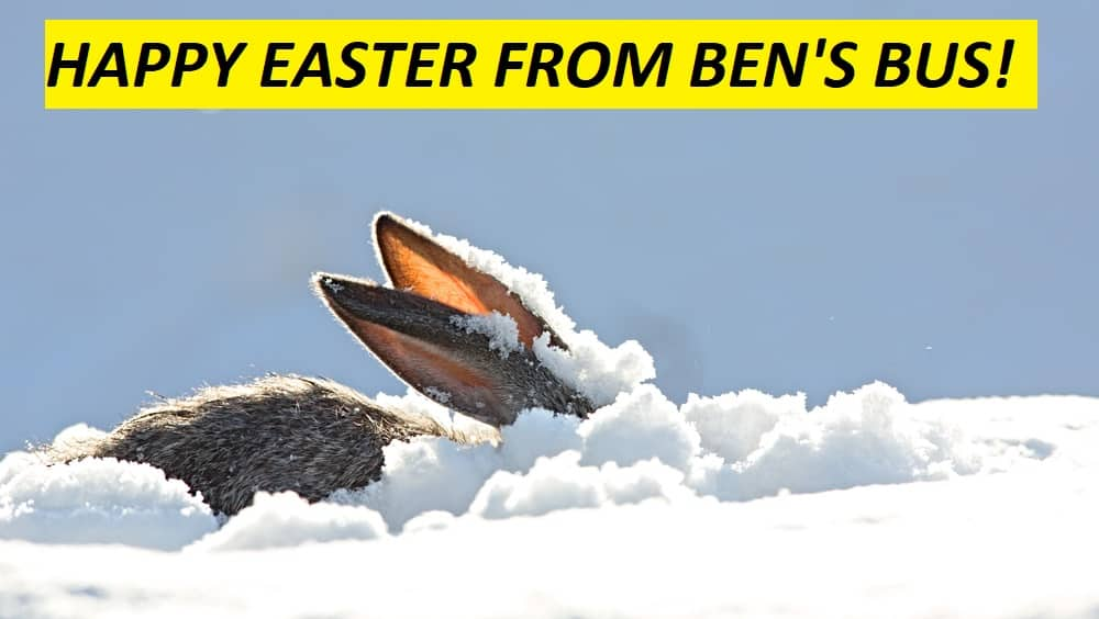 Happy Easter Ben's Bus Ski Transfers