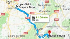Lyon Airport to Alpe d'Huez Directions