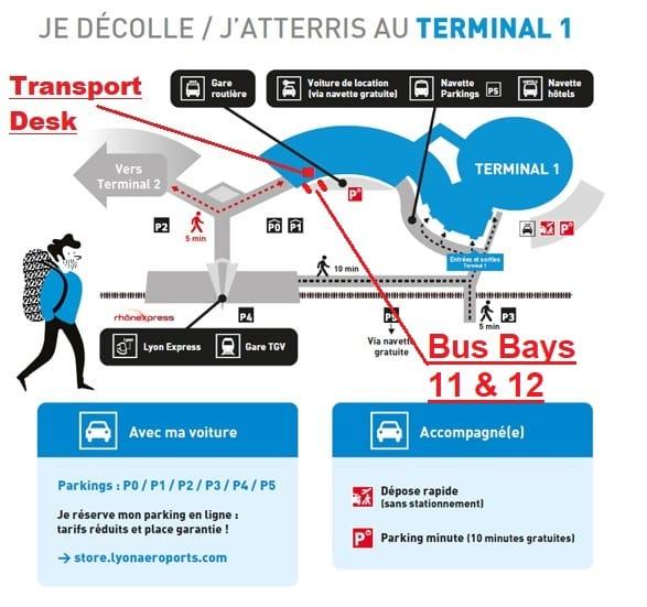 Lyon Airport Ben's Bus Bays
