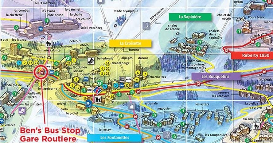 Les Menuires Airport Transfer Bus Stop