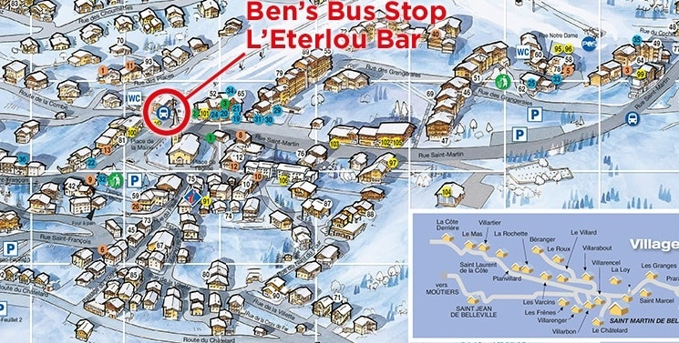 St Martin de Belleville Airport Transfer Bus Stop