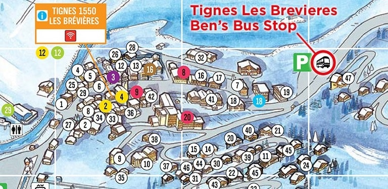 Tignes Les Brevieres Airport Transfer Bus Stop