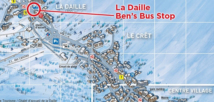 Val d'Isere La Daille Airport Transfer Bus Stop