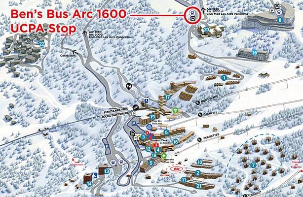 Les Arcs 1600 UCPA Ben's Bus Stop