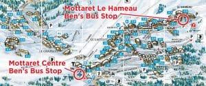 Mottaret Ben's Bus Airport Transfers Stops
