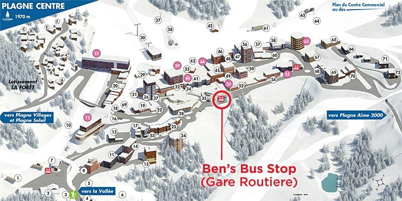 Plagne Centre Ben's Bus Stop
