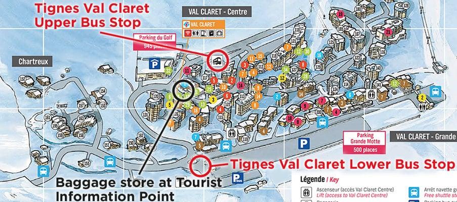 Tignes Val Claret Airport Transfer Bus Stop