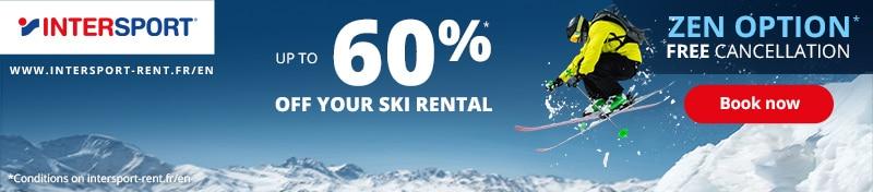 Discounted Ski hire Intersport 2021 2022